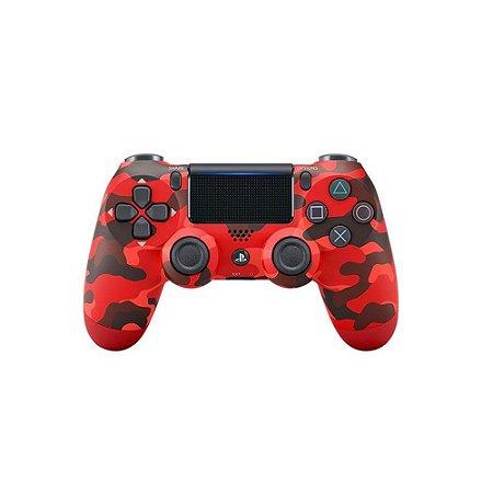 Controle Dualshock 4 - Vermelho Camuflado (Usado) - PS4