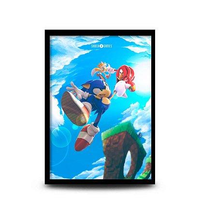 Quadro Sonic The Hedgehog - 32,5 x 43cm