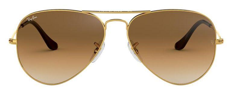Óculos de Sol Ray-Ban Aviador RB3025 - Marrom Degradê