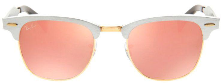 Óculos de Sol Ray-Ban Clubmaster RB3507 Aluminum Rosa Espelhado