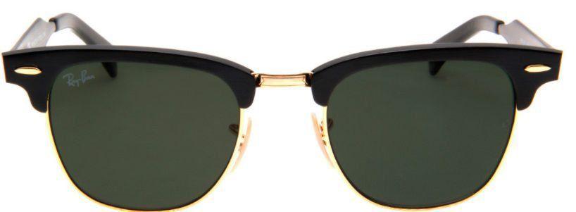 Óculos de Sol Ray-Ban Clubmaster RB3507 Aluminum Preto