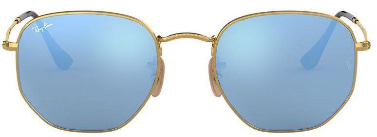 Óculos de Sol Ray-Ban RB3548 Hexagonal Azul Espelhado