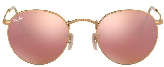 Óculos de Sol Ray-Ban RB3447 Round Rosa Espelhado