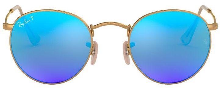 Óculos de Sol Ray-Ban RB3447 Round Azul Espelhado
