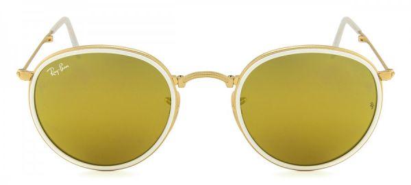 Óculos de Sol Ray-Ban RB3517 Round Dobrável Dourado