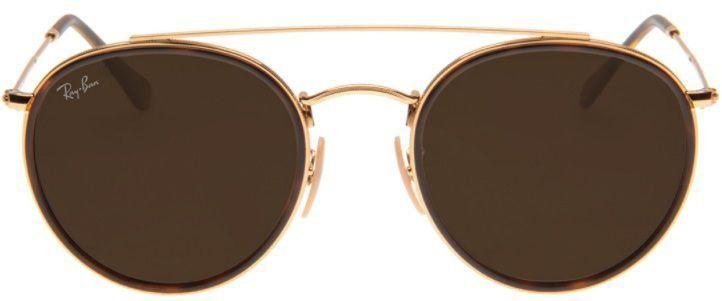 Óculos de Sol Ray-Ban RB3647 Round Double Bridge Marrom