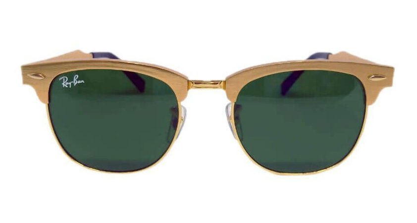 Óculos de Sol Ray-Ban Clubmaster RB3507 Aluminum Verde