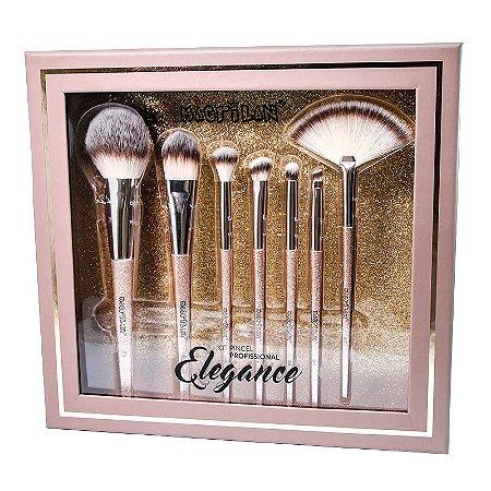 Kit ED700 com 7 pincéis para maquiagem Elegance Macrilan