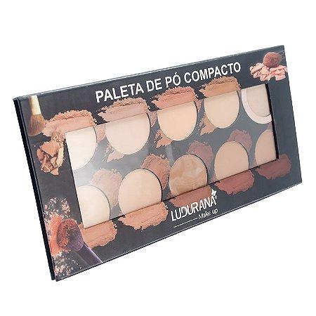 Paleta de Pó Compacto 10 Cores - Ludurana