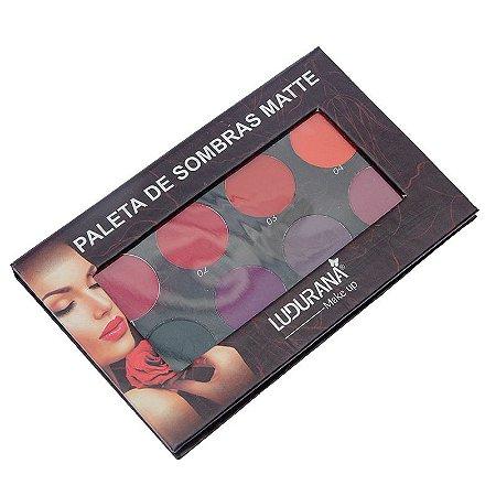 Paletas de Sombras Matte 08 cores Ludurana 8g