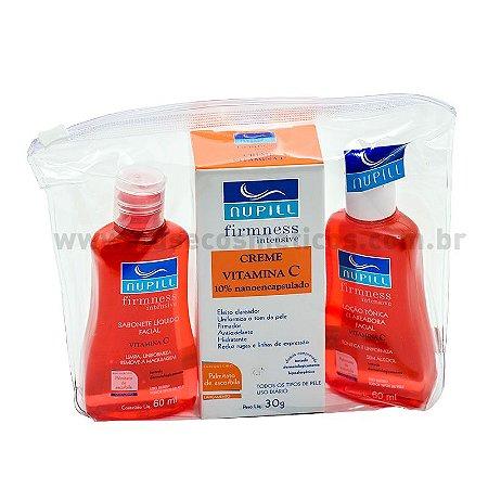 Kit Facial Nupill Firmness Intensive Vitamina C Sabonete Líquido + Creme Facial + Loção Tônica