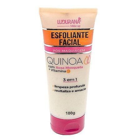 Esfoliante Facial Pós-Maquiagem Quinoa com Rosa Mosqueta Ludurana 100g