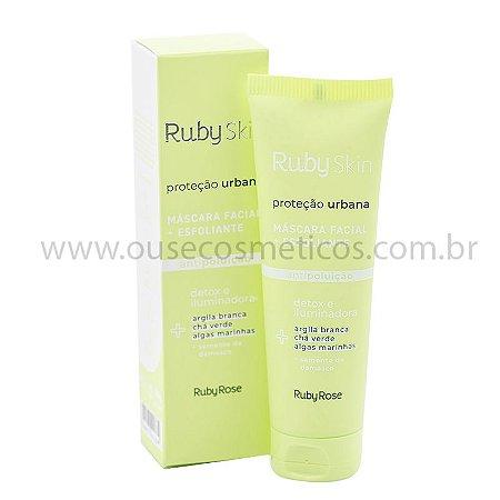 Máscara + Esfoliante Facial Proteção Urbana Ruby Skin 50g - Ruby Rose
