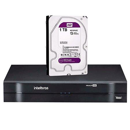 MHDX 1108 C/ HD 1TB - MANAUS - GRAV. DIG. DE VÍDEO 8 CANAIS 1080p LITE - INTELBRAS MULTI-HD® SÉRIE 1000 - H.265, H.265+, Nova interface gráfica, HDCVI + HDTVI + AHD + IP + ANALÓGICO com HD de 1TB instalado