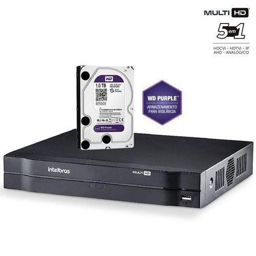 MHDX 1116 GRAV. DIG. DE VÍDEO 16 CANAIS 1080p LITE - INTELBRAS MULTI-HD® SÉRIE 1000 - H.265, H.265+, Nova interface gráfica, HDCVI + HDTVI + AHD + IP + ANALÓGICO com HD de 1TB instalado