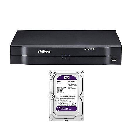 MHDX 1116 C/ HD 3TB - MANAUS - GRAV. DIG. DE VÍDEO 16 CANAIS 1080p LITE - INTELBRAS MULTI-HD® SÉRIE 1000 - H.265, H.265+, Nova interface gráfica, HDCVI + HDTVI + AHD + IP + ANALÓGICO com HD de 1TB instalado