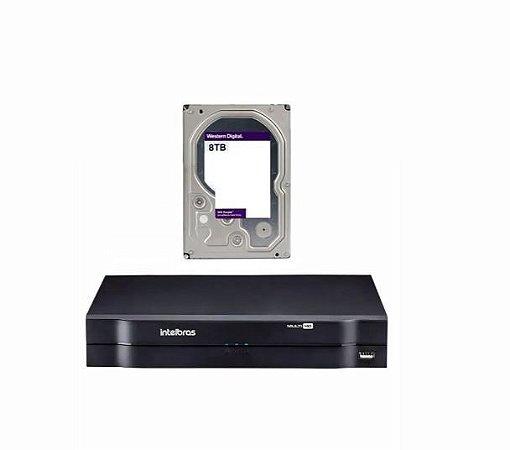 MHDX 1116 C/ HD 8TB - GRAV. DIG. DE VÍDEO 16 CANAIS 1080p LITE - INTELBRAS MULTI-HD® SÉRIE 1000 - H.265, H.265+, Nova interface gráfica, HDCVI + HDTVI + AHD + IP + ANALÓGICO com HD de 8TB instalado