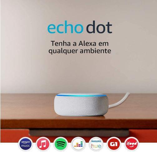 Echo Dot (3ª Geração): Smart Speaker com Alexa - Branco, Vermelho, Cinza