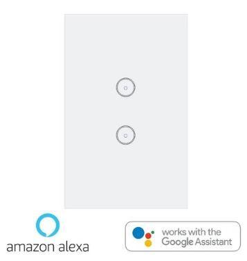 Interruptor Ekaza Inteligente Wifi Touch Screen - 2 Botões