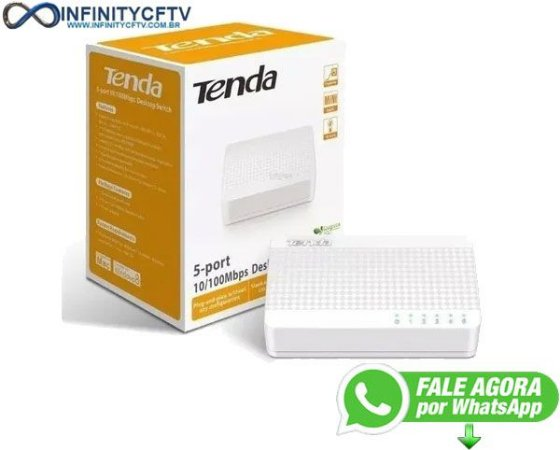 Switch 5 Portas De Mesa Tenda S105 Ethernet 10/100mbps