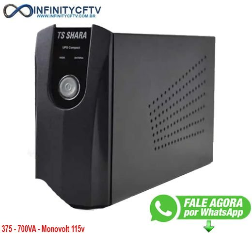 NOBREAK UPS COMPACT 600 MONOVOLT 115V - Infinitycftv Santa Efigenia