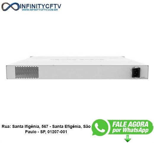MIKROTIK CLOUD ROUTER SWITCH CRS354-48P-4S+2Q+RM POE OUT - INFINITYCFTV SANTA EFIGÊNIA