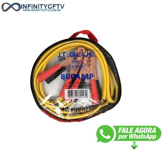 Cabo Auxiliar De Partida Chupeta C/ Bolsa Bateria 800amp - Infinitycftv