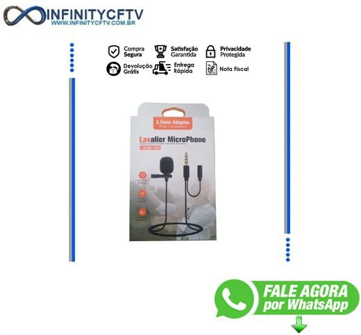 Microfone Lavalier Msx-04 De Lapela Profissional Entrada P2 Infinity santa figenia 2DE2A204W