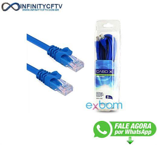 Cabo De Rede Internet Lan Utp  Cat5e  Exbom 2 Metros Infinity Cftv