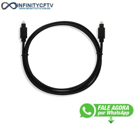 Cabo Áudio Digital Óptico Fibra 2m Le-1003 Infinity Cftv