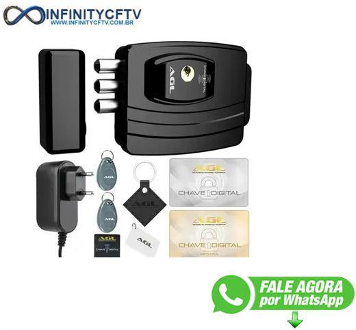 Fechadura Eletrônica Agl Ultra Card Sensor Aproximação- Infinity Cftv