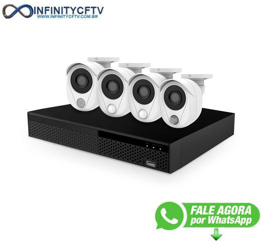 Kit 4 Câmeras DVR - LuaTek LKK-3114 - InfinityCftv