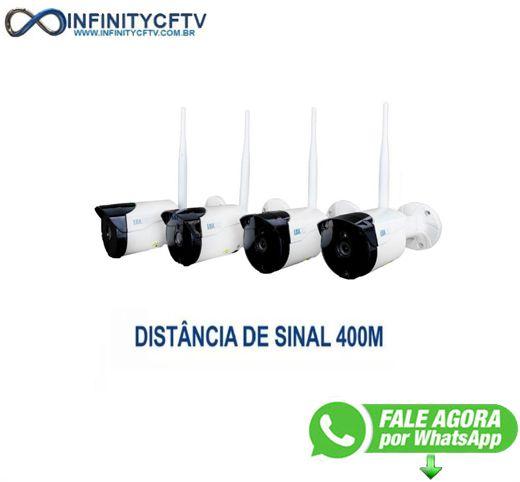 Kit 4 Câmeras NVR Wifi -  Lkk-1204  LuaTek - InfinityCftv