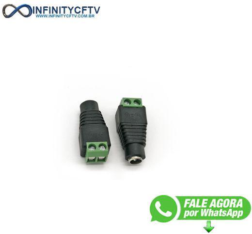 Conector P4 Femea Com Borne LKP-201-Infinity Cftv