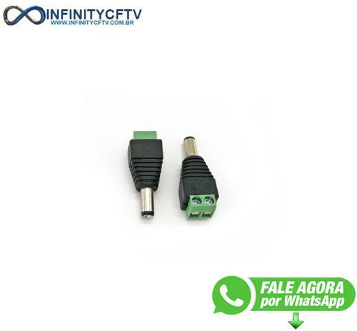 Conector P4 Macho Com Borne LKP-202-Infinity Cftv