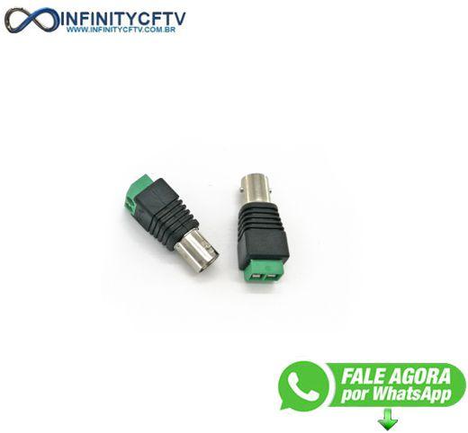 Conector Bnc Femea Com Borne LKP-204-Infinity Cftv