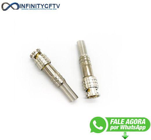 Conector Bnc Com Mola E Parafuso LKP-311-Infinity Crtv