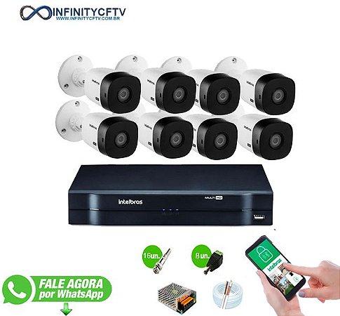 Kit Intelbras 8 Câmeras HD 720p VHL 1120 B + DVR 1108 Intelbras - InfinityCftv