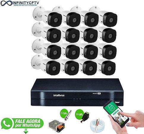 Kit Intelbras 16 Câmeras HD 720p VHL 1120 B + DVR 1116 Intelbras - InfinityCftv