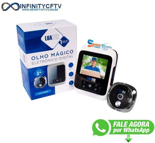 Olho Mágico Digital Tela 3 Polegada Visão Noturna Foto Video - LKM-2003-Infinity Cftv