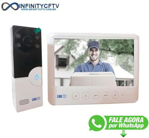 Porteiro Eletrônico Com Vídeo 7 Polegadas  Lkm-1103 Branco-Infinity Crtv