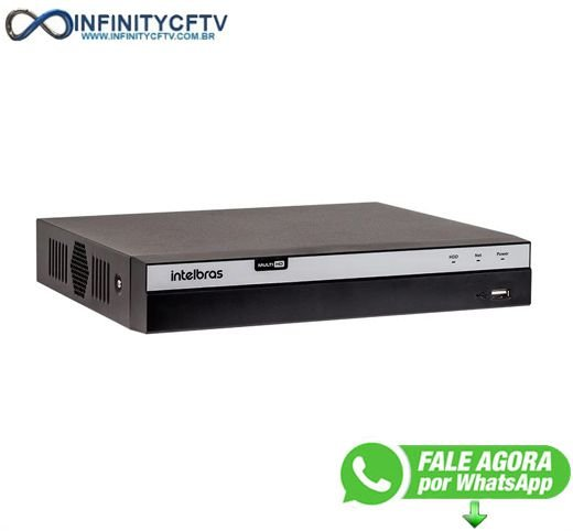 DVR Intelbras Full HD MHDX 3104, 04 Canais, 4MP Lite - InfinityCftv