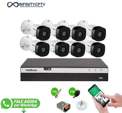 Kit Intelbras 8 Câmeras HD 1080p + DVR 3108 Intelbras - InfinityCftv