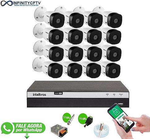 Kit Intelbras 16 Câmeras HD 1080p + DVR 3116 Intelbras - InfinityCftv