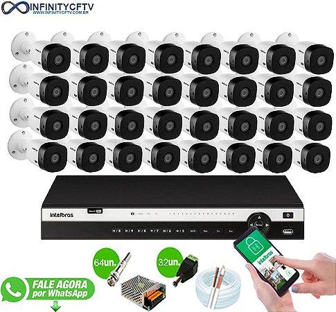 Kit Intelbras 32 Câmeras HD 1080p + DVR 3132 Intelbras - InfinityCftv