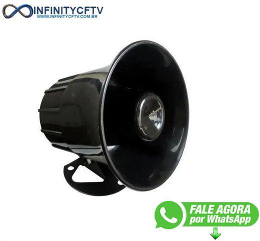 Sirene Corneta P/Alarme 6 Níveis de Volume 120DB LKS-212-Infinity Cftv
