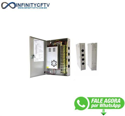 Rack Para Cftv Com Fonte Chaveada 12V 30A Lkf-3018-Infinity Cftv