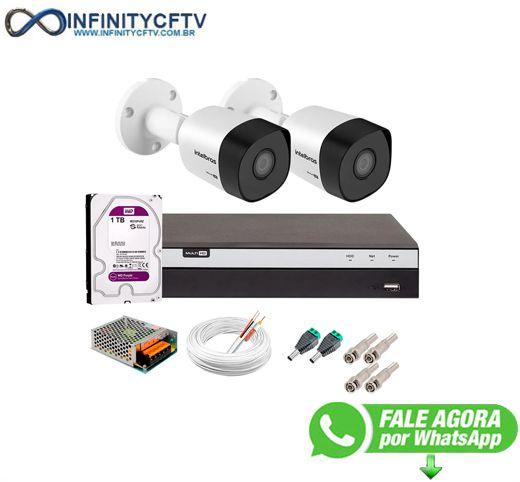 Kit 2 Câmeras de Segurança Full HD 1080p VHD 3230 B G6 + DVR Intelbras MHDX 3108 Full HD de 08 Canais + 1 HD Interno WD Purple 1TB - InfinityCftv