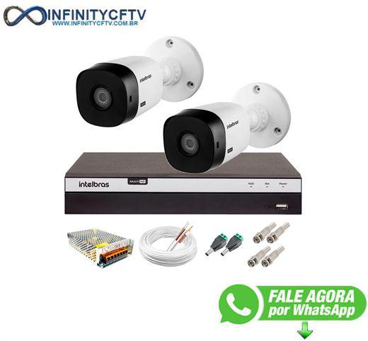 Kit Intelbras 2 Câmeras Full HD 1080p VHL 1220 B + DVR 3104 Intelbras + Acessórios - InfinityCftv