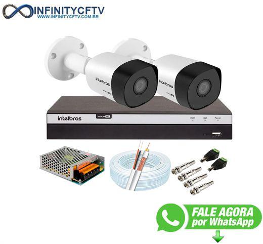 Kit 2 Câmeras de Segurança Full HD 1080p VHD 3230 B G6 + DVR Intelbras MHDX 3104 Full HD de 4 Canais- InfinityCftv
